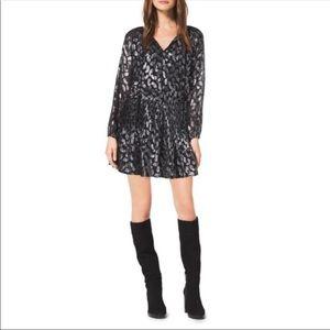 NWOT Michael Kors Black Silver Paisley Dress